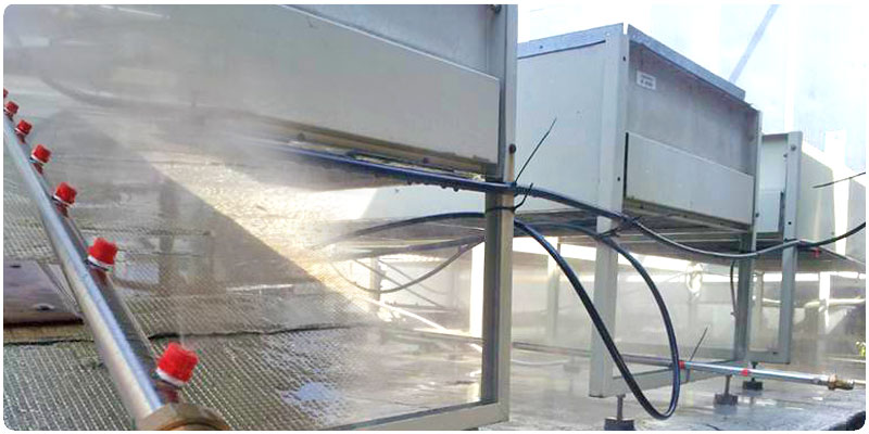 CAREL solution for Evaporative cooling for chillers and drycoolers